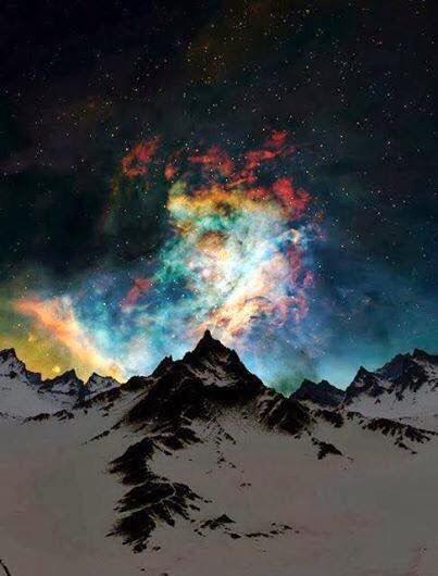 Aurora Borealis (Northern lights ),(. Svalbard, Norway)
