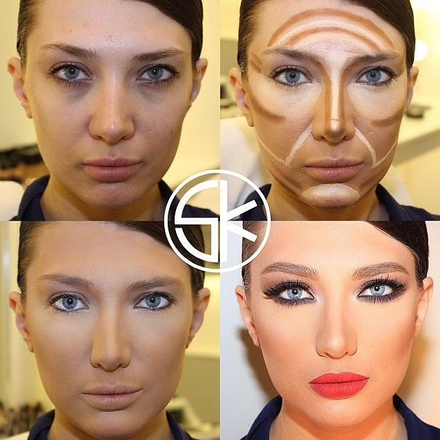 Contour all wrong!! Most don't blend their shades enough or get the placement wrong,Instead, use two shades of your foundation for the most natural look — your usual foundation and one shade darker