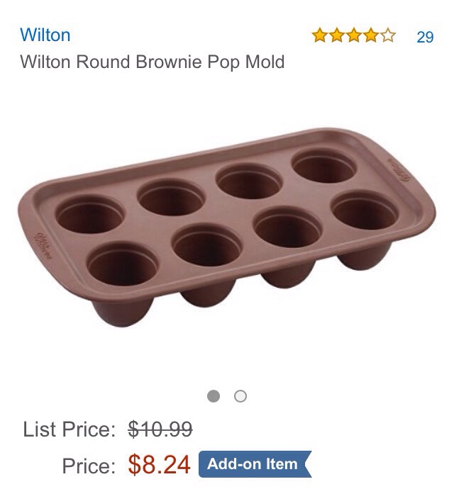 EXAMPLE| SiliconeBrownie Pop Mold on Amazon