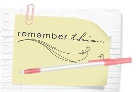1. Write everything down