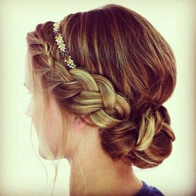 ~Dutch braid~ Just like a French braid but instead of crossing over, cross the two braids under.