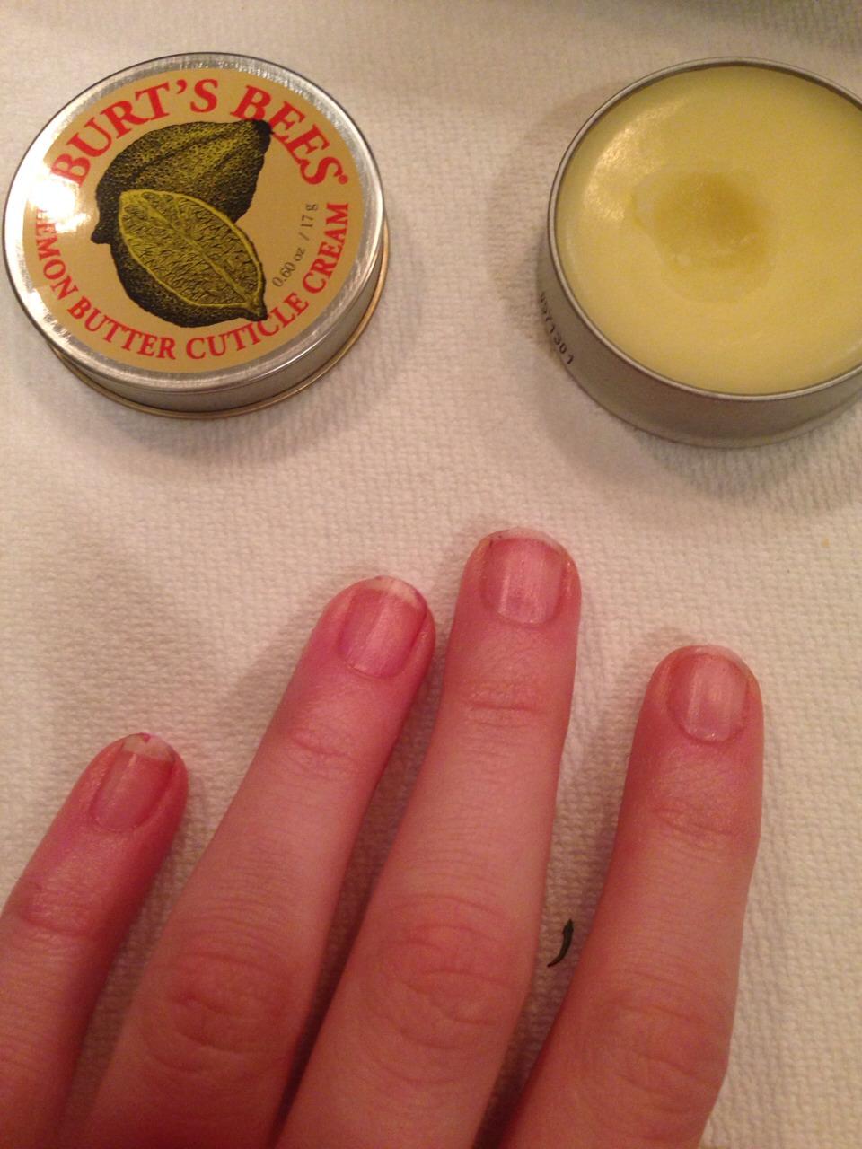 Apply cuticle cream