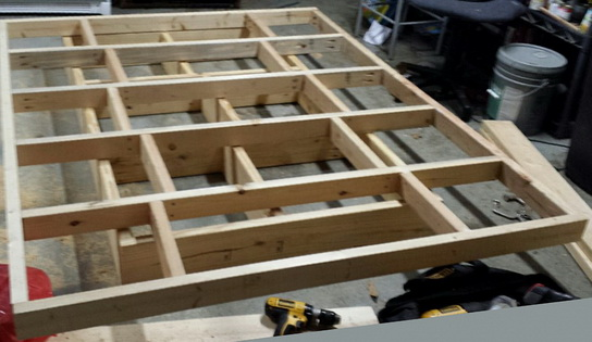 Here are the top and bottom bed frames stacked on top of each other to show placement.