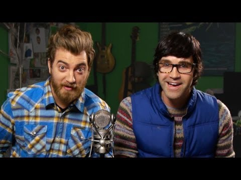 4.) Good Mythical Morning (Rhet and Link) do all types of comical videos such as eating weird foods, making funny music videos, and listing weird things that have happened in history. They even teamed up with Superwoman for a video.