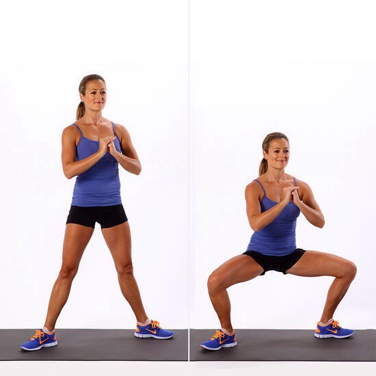 Squats for 1 minute