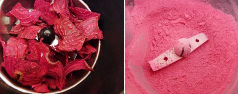 Blush with beets:  http://yumuniverse.com/easy-diy-beet-powder-cream-blush/