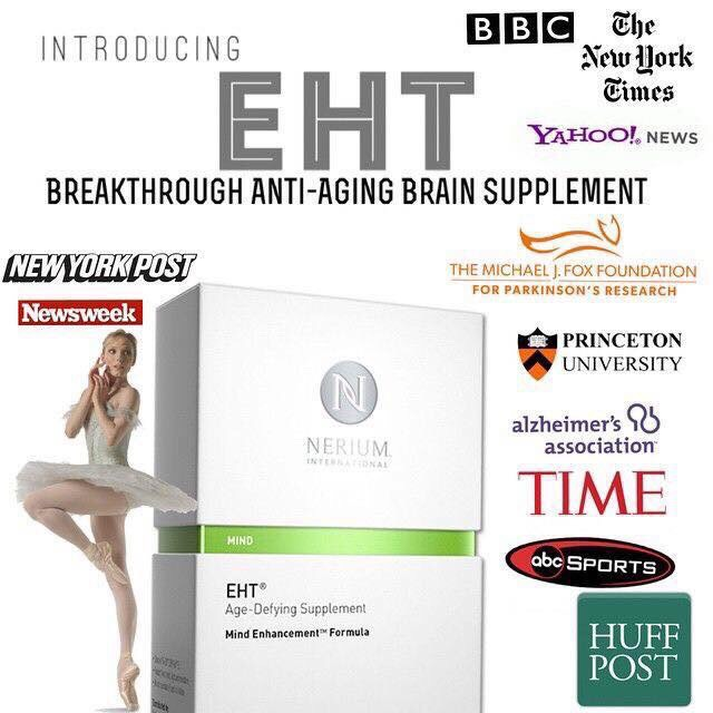 Breakthrough EHT supplement from 20 years research from Princeton university! All natural with no drug interactions..drug free! Gives you energy, focus, increasesimmune system, takes out inflammation out of your body, and so much more!! Healthy brain healthy body! Anti-aging for your brain!