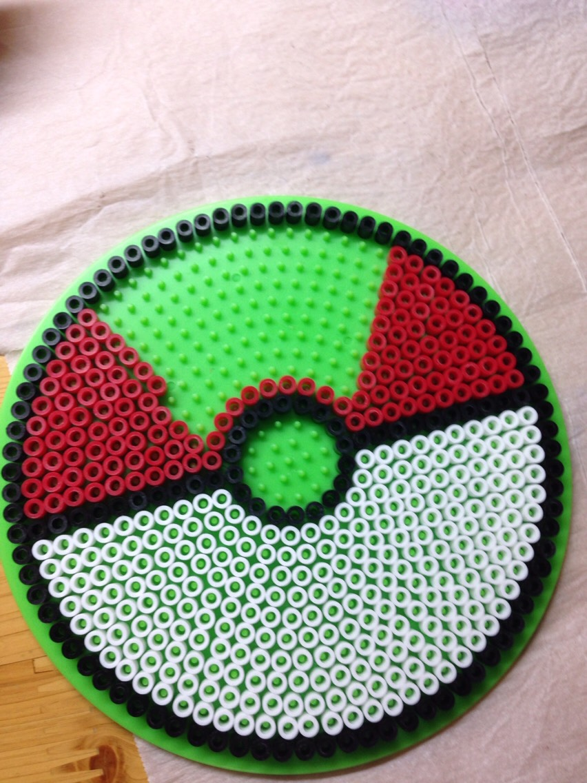 As you wait for that. Start on your pokeball. Like this!
