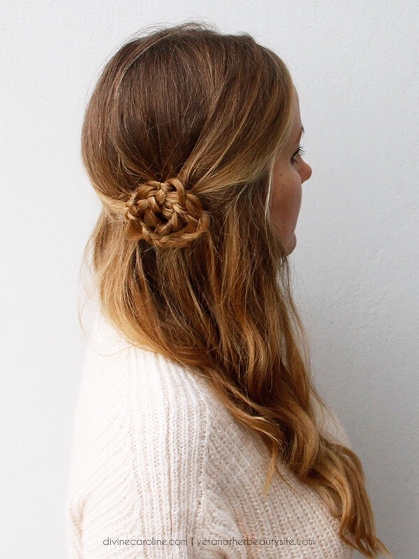 This braid is a little tough but it's really pretty and is not too big and out there