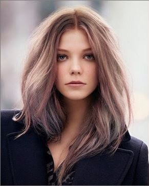 Mauve: mauve is the brownish-purplish-grayish-pinkish color that's been very popular in makeup lately. Why not have it as a hair color too? If you've been wanting to dye your hair something interesting, but afraid of anything too crazy, this would be great.