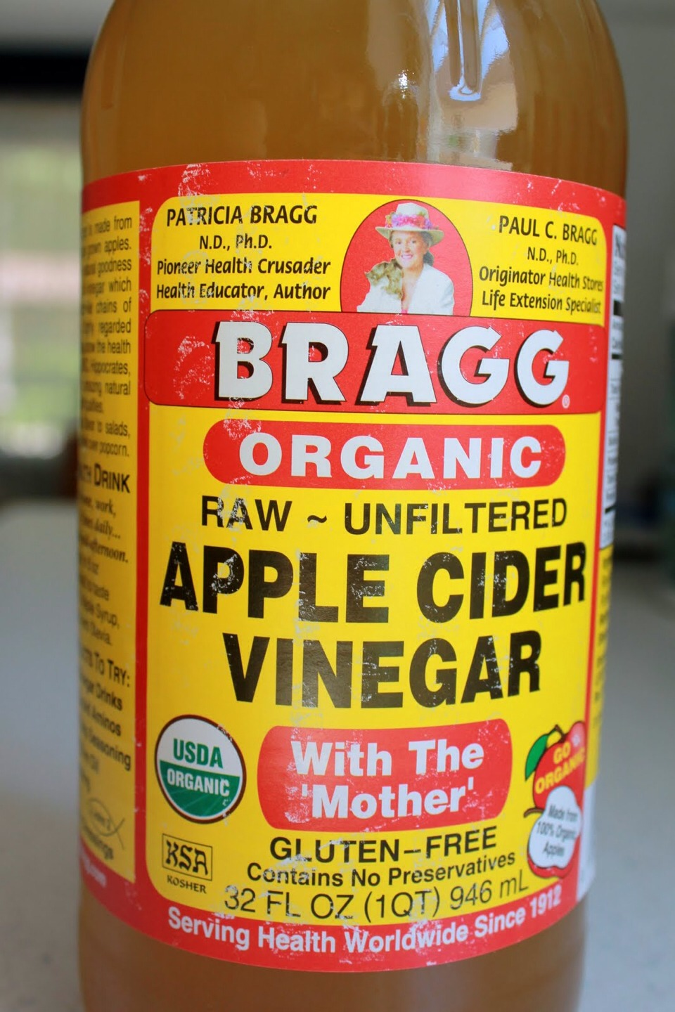 After shaving or waxing, put a small amount of the apple cider vinegar a cotton pad and apply to the area!