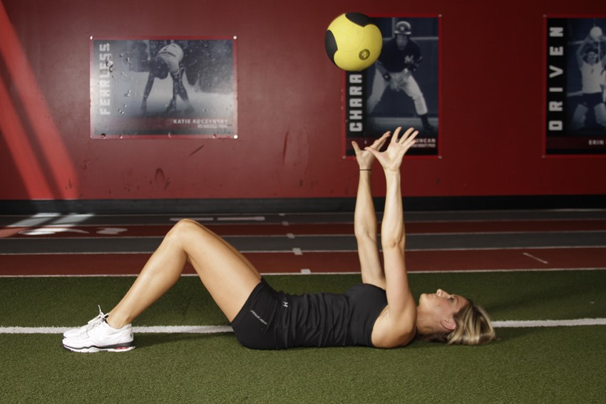 2. Medicine Ball Chest Pass (4 sets, 20 reps)