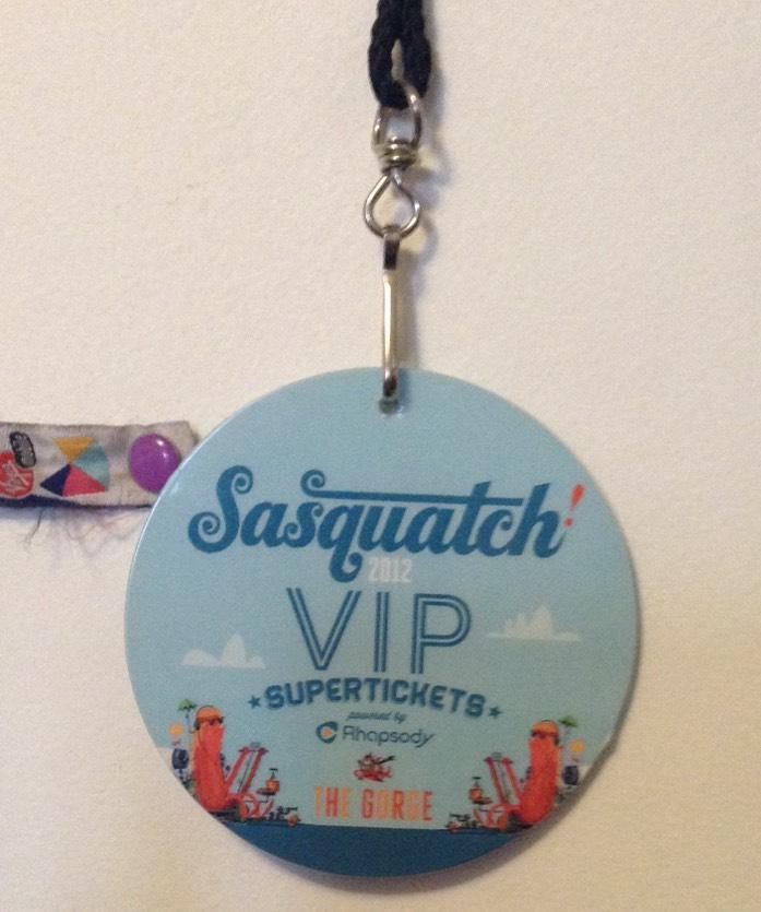 VIP Sasquatch Superticket 2012