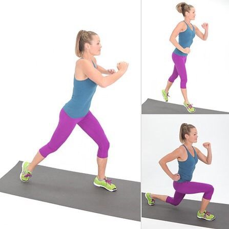 30 bouncing/hopping lunges