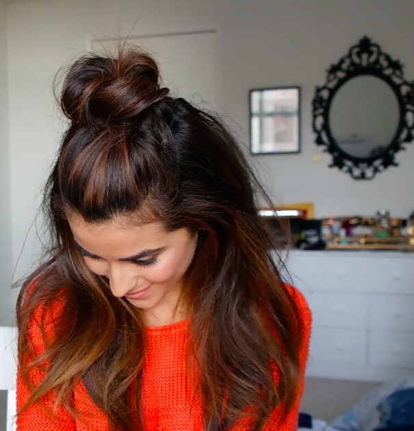 Top Knot Half Down