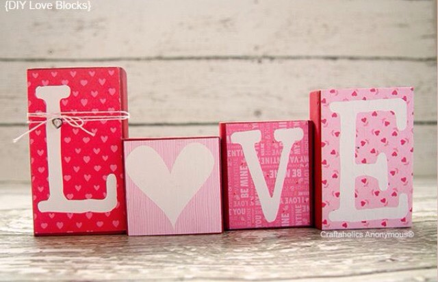 Paint wood blocks and use stencils to create these cute decorations!