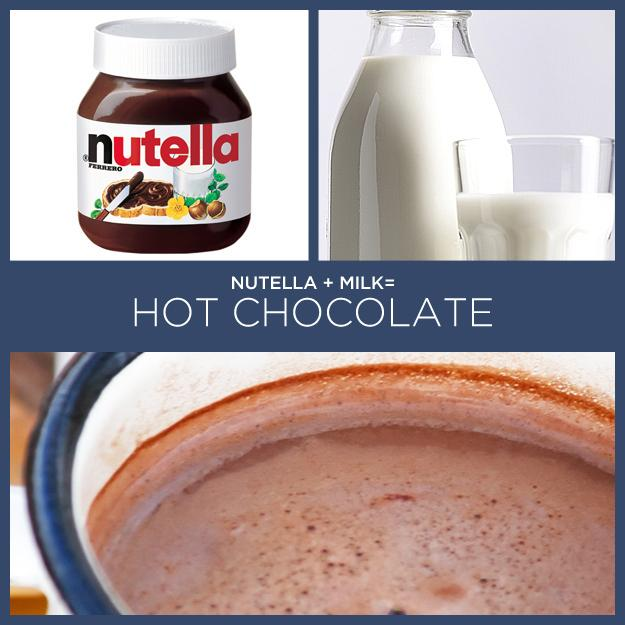 22. Nutella + Milk = Hot Chocolate