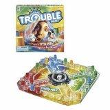 Trouble - this is a fun little game for kids and adults that has simple rules and strategy. I think of it, and Sorry as basically the same game, in different forms (with Sorry being slightly more complicated). We have both in our house, but you can easily get by with one or the other.