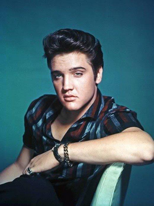 Elvis Presley known for his signature slicked back hair and high pomp. From the past to now this is one of the classic looks that remains until now and will forever be a classic man's hairstyle for medium length.