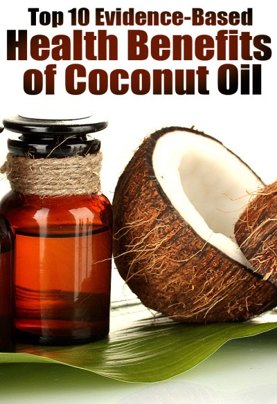 1. Coconut Oil Contains a Unique Combination of Fatty Acids With Powerful Medicinal Properties:   Coconut oil contains a lot of medium chain triglycerides, which are metabolized differently and can have therapeutic effects on several brain disorders.