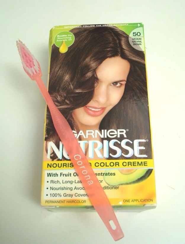 Touch up roots with a toothbrush.