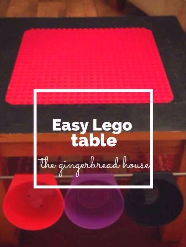 Use Bygel rails to turn a table into a Lego Duplo table!