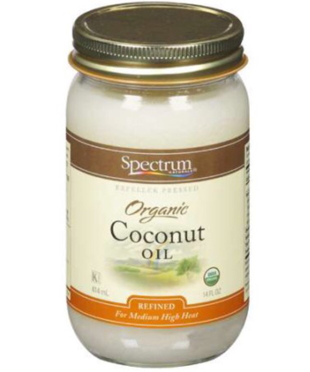 Step 1:  Add 2 tablespoons of Coconut oil  Coconut oilis an antibacterial, &nourishesthe scalp & hair folicle by reducing sebum build up