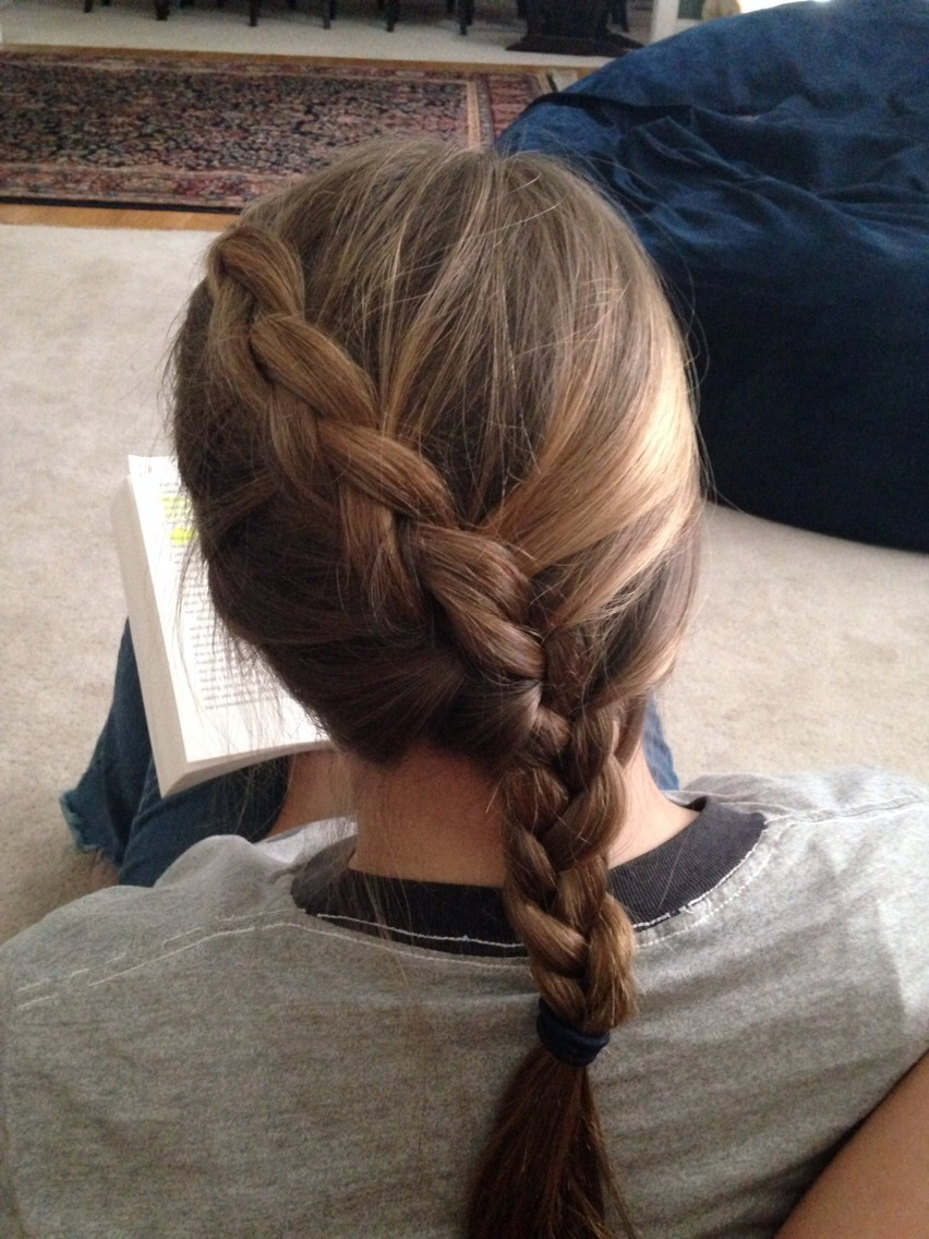 Katniss braid!!! This is actually a Dutch braid it's beautiful