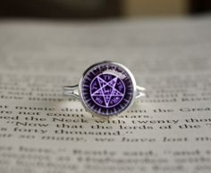 A ring with the Sebastian's symbol