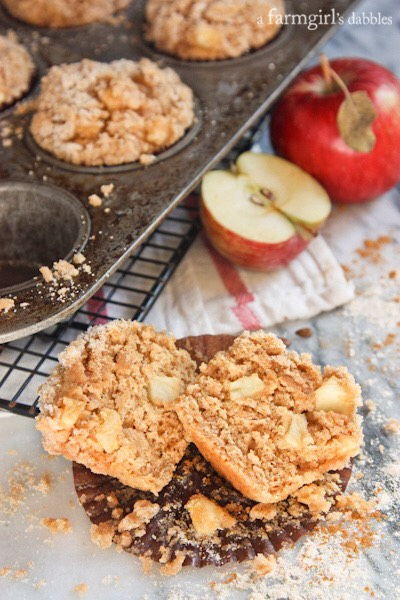 Apple and Cinnamon •grate one apple into the basic batter and add 3/4 teaspoon of cinnamon. Cut another Apple into 10 slices and top each muffin with a slice before baking.