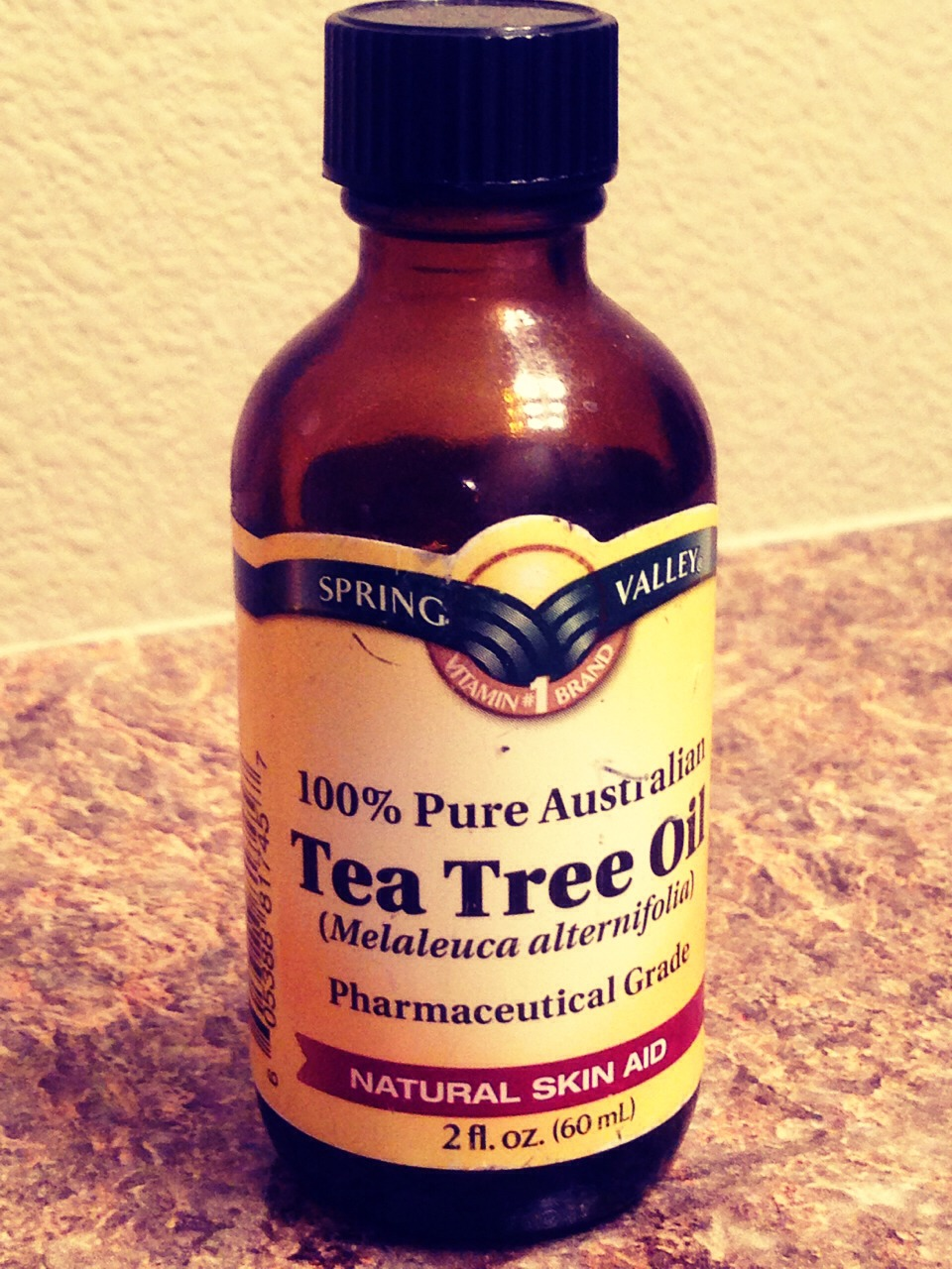 Rub tea tree oil on your face every night before you go I bed.