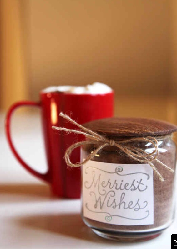 Hot chocolate It's a truly great gift. Tasty, relaxing and hot. Good feelings. http://www.yumsugar.com/Vanilla-Hot-Chocolate-Recipe-2603652