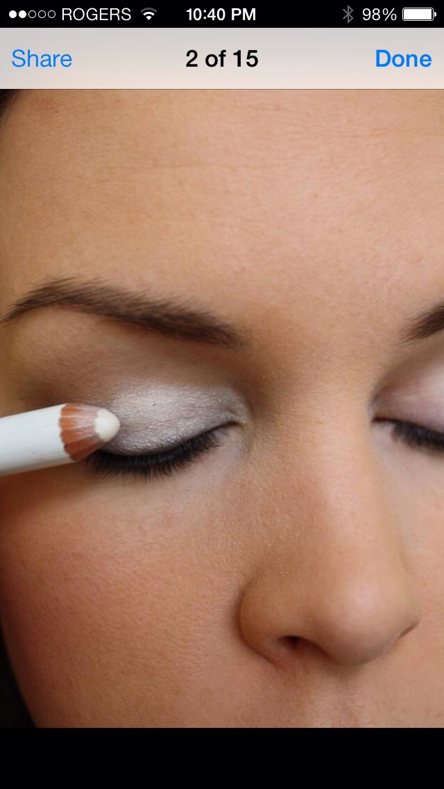 Use creamier stick eye liner for eyeshadow