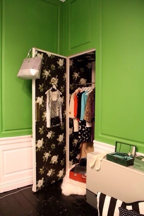23. If there's no space for shelving, you could still put a hook on the inside of your door for planning the next day's outfit.