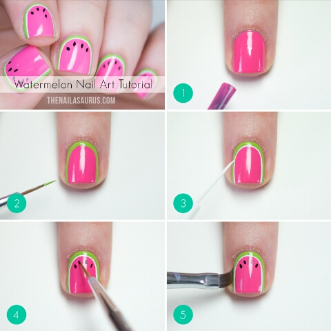 watermelons are part of summer and look gorgeous so why not do your nails for the love of watermelons🍉🍉