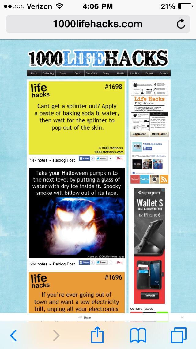 Website: 1000lifehacks.com