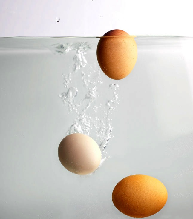 Place the egg in cold water if it is floating horizontally its super fresh, seeping a little still pretty fresh if it just drops no so fresh but still edible if cooked