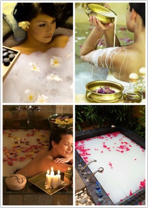 While going to a spa can be fun, it can also be expensive. So here are a few ways to create an authentic spa experience at home with these milk bah recipes