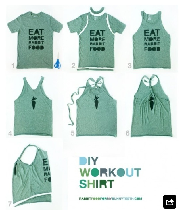 Turn A T Shirt Into A Work Out Shirt