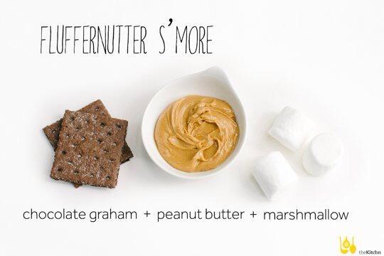 Chocolate graham cracker, peanut butter, marshmallow
