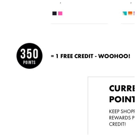 You can save up 350 points and get a free credit!!! Credits can be used for $39.95 worth of merchandise from justfab which means you can get some cool jewelry, a nice fresh pair of denim, an awesome new pair of shoes. Basically you can get anything that adds up to $39.95 for free!