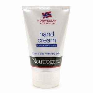 Hand cream because you are touching everything