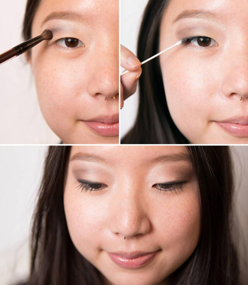 6. Create a crease with a smoky shadow.