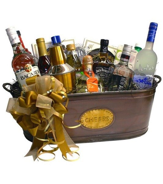 Liquor gift basket