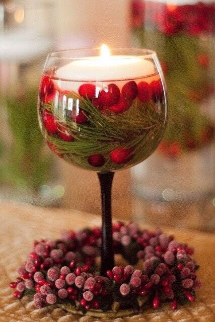 Christmas Floating Candles.Christmas Floating Candles Centerpieces By Estela Aburto