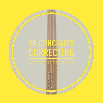 2B COLOURS Concealer Correcting Waterproof Sticks | This concealer correcting waterproof stick in the shade peach is perfect for my under eye area.  Since it has a peach tint, it helps to remove my dark circles.