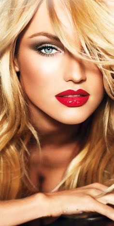 LIPSTICK | Blue-eyed blondes look gorgeous with cherry red lips. Blondes can pull off wearing a blue red or even an orange-based red, which is best for warmer skin tones.  NOTE | Better to stick with lipsticks that are blue based or have a brown tint.