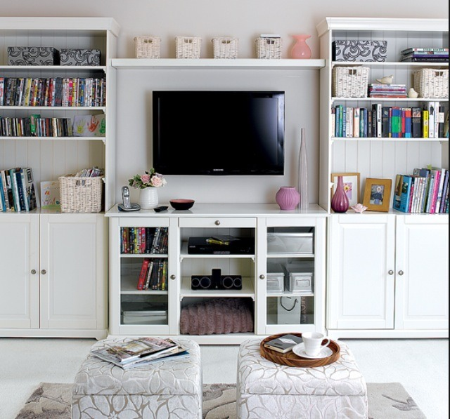 I don't own none of these photos!! Last one. But the tv on the wall and shelfs either side - a teenage look.