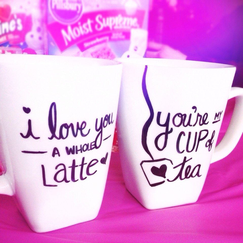 1. Clean mug to remove any water/oil/residue  2. Use permanent marker (look for markers specific for ceramics for longest lasting results!) to write a message  3. Bake in oven for 350 degrees for 25 minutes  3. Take out and let cool! Voila!!! Perfect gift idea!