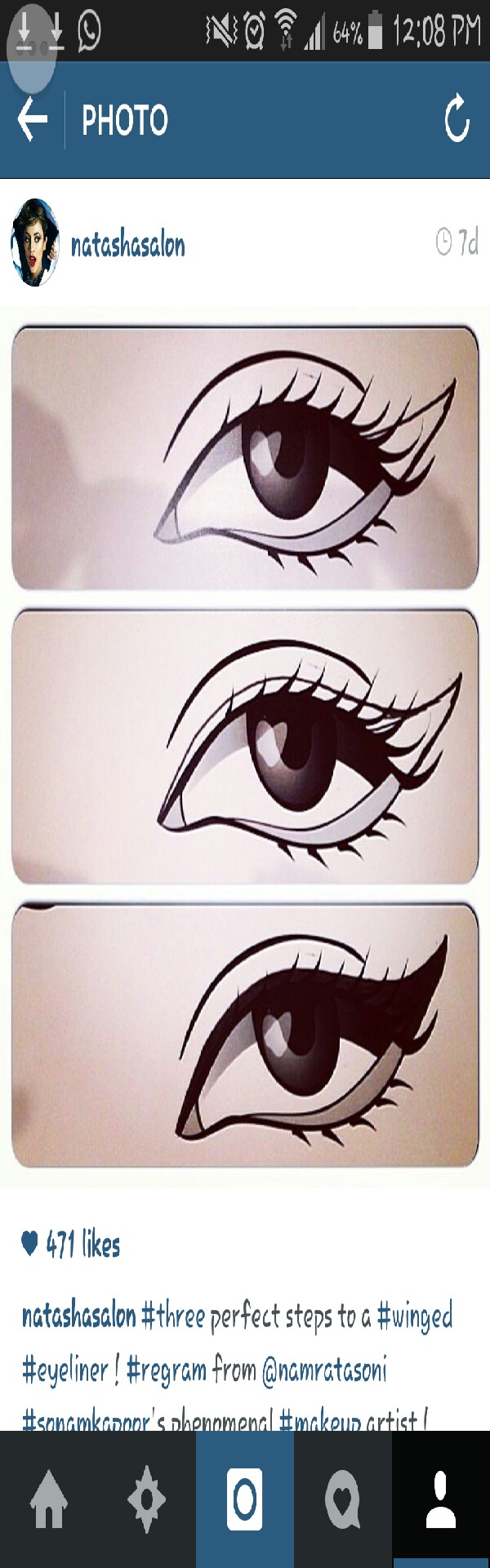 three simple steps to a winged eyeliner 😊